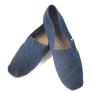 TOMS NAVY CANVAS WOMENS CLASSIC